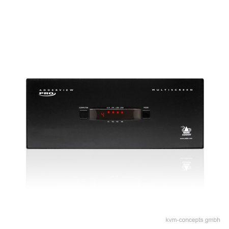 ADDERView 4 Pro DVI Quad Video KVM-Switch - Vorderseite