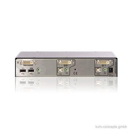ADDERView AVSD1002 Secure KVM-Switch - Rückseite