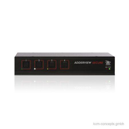 ADDERView AVSD1004 Secure KVM-Switch - Vorderseite