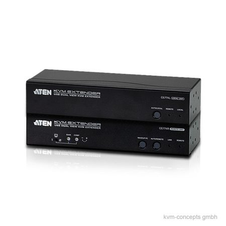 ATEN CE774 – KVM Extender Set Dual VGA, USB, RS-232, Audio – Produktbild
