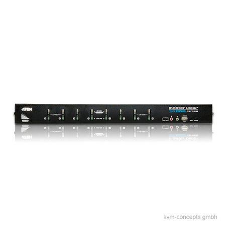 ATEN CS1768 8x KVM Switch mit DVI, VGA, USB, Audio - Vorderseite
