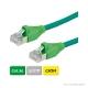 DÄTWYLER Patchkabel Cat.5e S/UTP, CU 5502 flex LSOH, AMP-Stecker, grün
