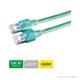 DÄTWYLER Patchkabel Cat.5e S/UTP, CU 5502 flex LSOH, Hirose TM11 Stecker, grün