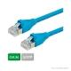 DÄTWYLER Patchkabel Cat.5e S/UTP, CU 5502 flex PVC, AMP-Stecker, blau