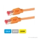 DÄTWYLER Patchkabel Cat.6 S/FTP, CU 7702 flex LSOH, Hirose TM21 Stecker, orange