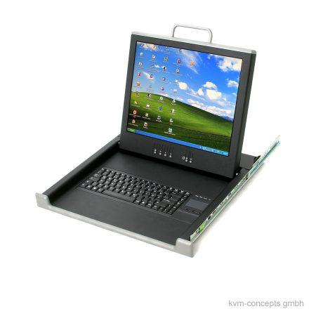 "FOKUS Technologies RM-017-0001-0010 17"" TFT KVM-Konsole - Produktbild"