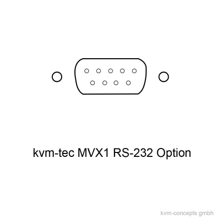 MVX1-RS (6838): RS-232 Option für kvm-tec Masterline MVX1 & MVX1-F