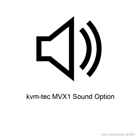 MVX1-S (6839): Sound Option für kvm-tec Masterline MVX1 & MVX1-F