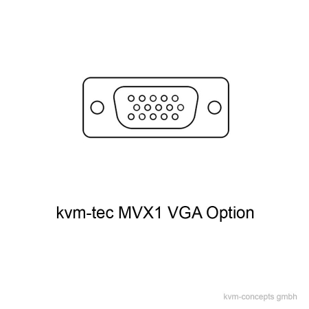 MVX1-VGA (6840): VGA Option für kvm-tec Masterline MVX1 & MVX1-F