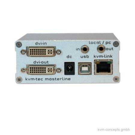 DVI USB 2.0 Audio KVM-Extender Transmitter | KVM-TEC Masterline MVX1L 6701L | Produktbild