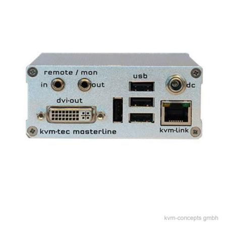 DVI USB 2.0 Audio KVM-Extender Receiver | KVM-TEC Masterline MVX1R 6701R | Produktbild